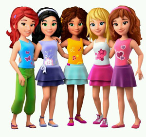 Lego Friends amigas