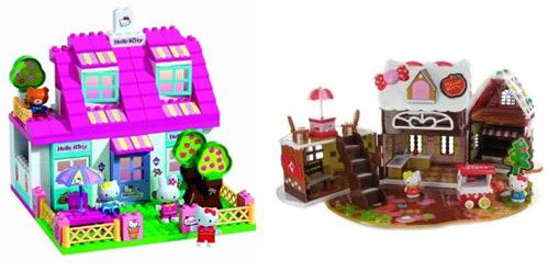 Casa de muñecas y casita de chocolate