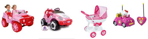 Coches y cochecitos Hello Kitty