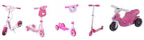 Scotters y motos Hello Kitty
