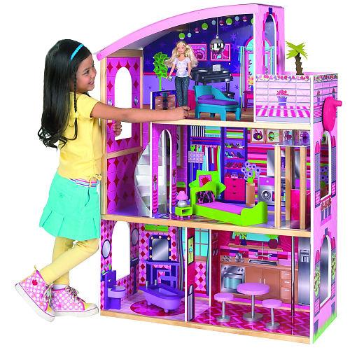 Casa de muñecas y casitas de madera