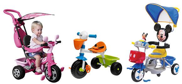 Catálogo para comprar triciclos baratos e infantiles