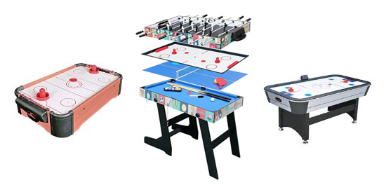 Mesas air hockey y multijuegos