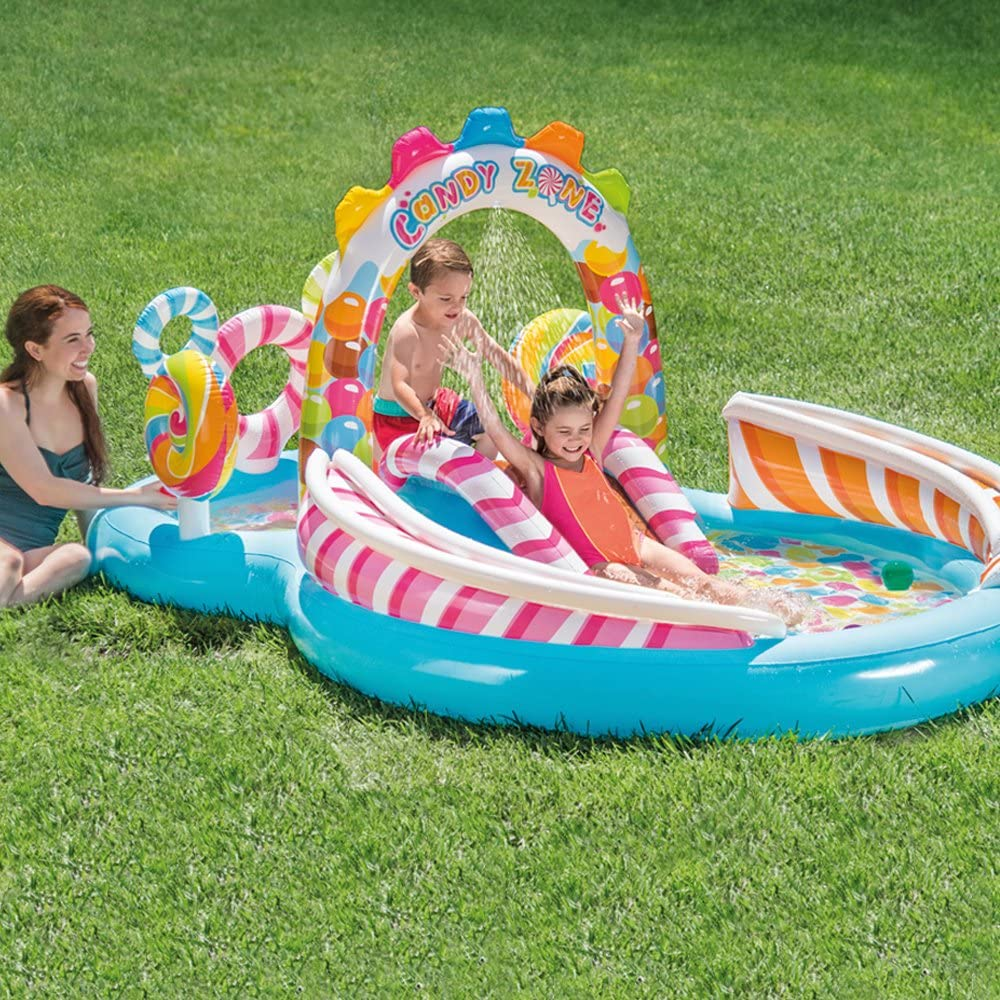 Castillo hinchable con piscina para jardín